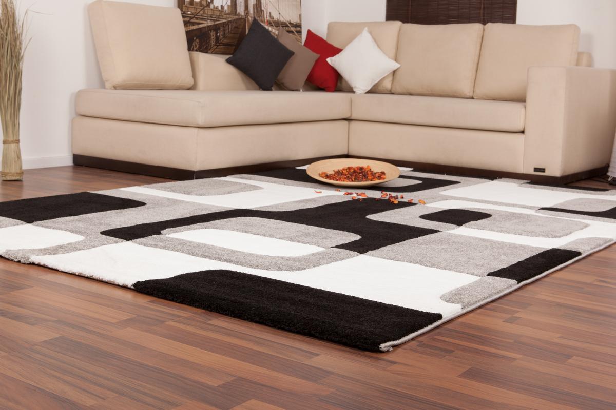 teppich moderne teppiche relief flachflor neu ovp retro. Black Bedroom Furniture Sets. Home Design Ideas