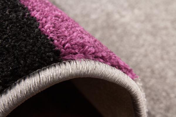 tappeti moderni basso 3d viola e grigio : Tappeto Tappeti Moderni A Pelo Corto NUOVO Designer SALDI Grigio Viola ...