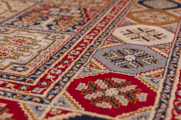 Teppich Klassische Teppiche Orientalisch Glanzgarn NEU Rot