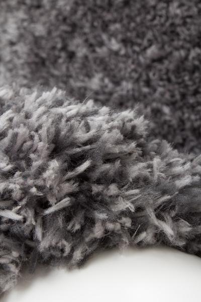 teppich uni langflor flauschig teppiche hochflor handgetuftet grau 120x170. Black Bedroom Furniture Sets. Home Design Ideas