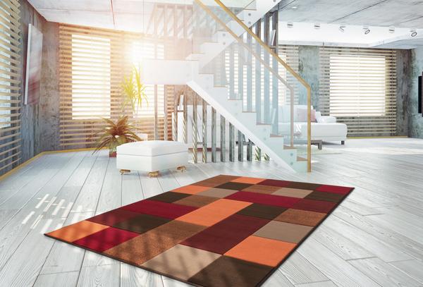 tappeti moderni basso 3d viola e grigio : Tappeti bambini Moderno GUFO Farfalle Fiori Design A Quadri Grigio ...