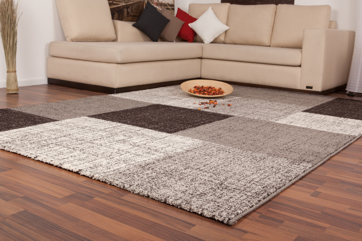 flachflor teppich kasten design modern teppiche vintage teppiche silber 160x230 ebay. Black Bedroom Furniture Sets. Home Design Ideas