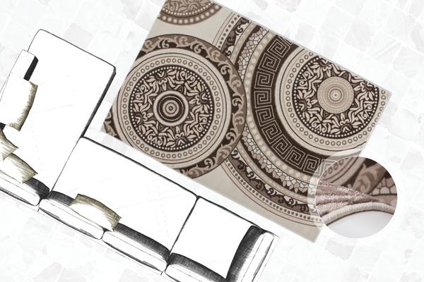 klassisch orientalisch teppich glanzgarn flachflor teppiche modern kreis muster ebay. Black Bedroom Furniture Sets. Home Design Ideas