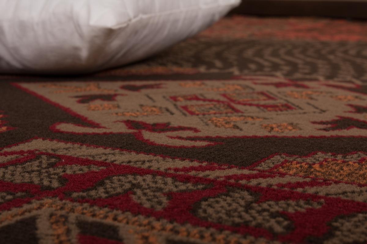 flachflor teppich pflegeleichter teppich usa los angeles rot 160 x 230 cm 4251416360943 ebay. Black Bedroom Furniture Sets. Home Design Ideas