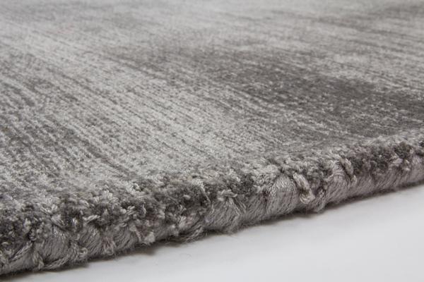 hochwertiger teppich viskose flachflor natur uni teppiche seide grau 120x170 ebay. Black Bedroom Furniture Sets. Home Design Ideas