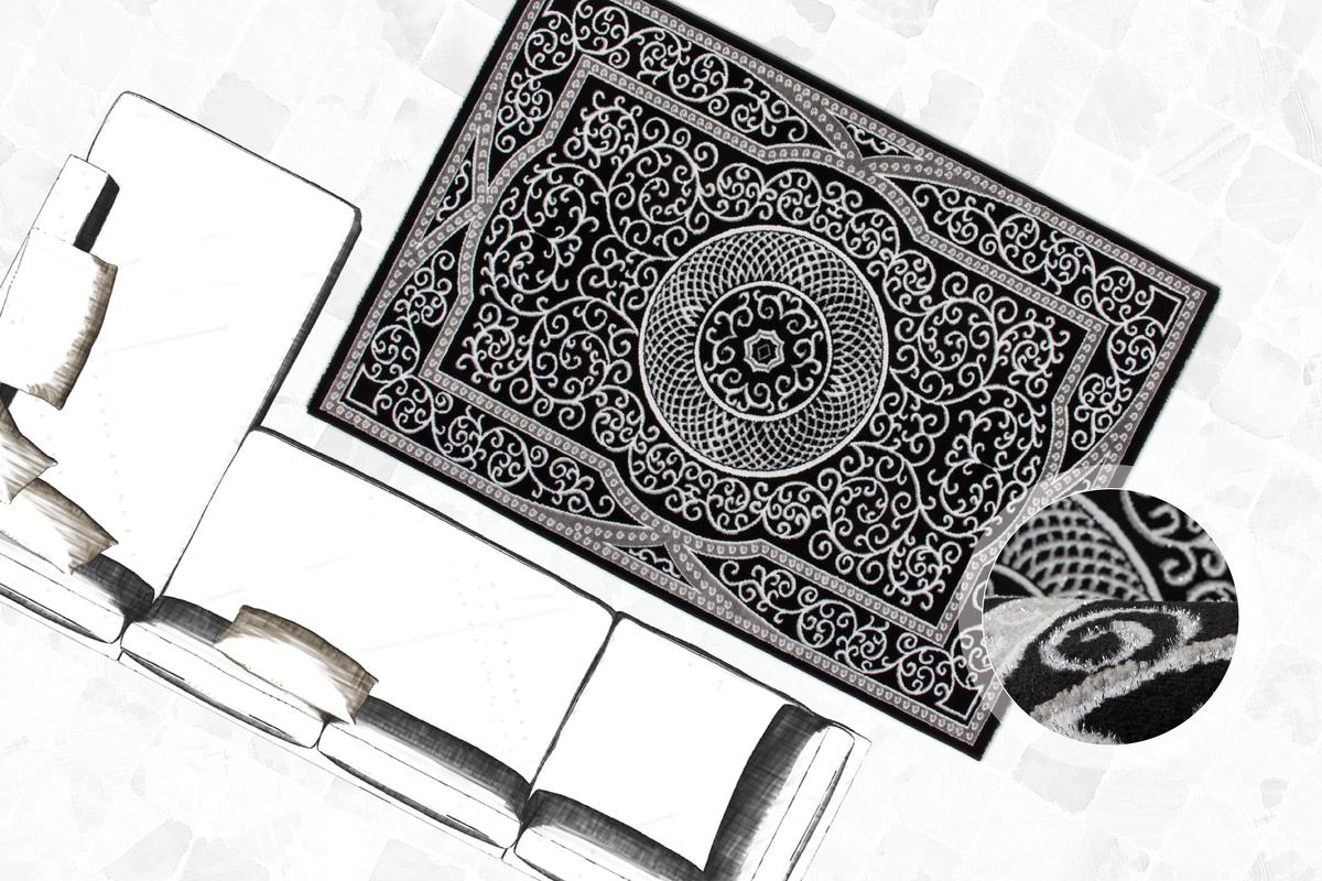 klassisch orientalisch teppich glanzgarn flachflor teppiche modern angebot sale ebay. Black Bedroom Furniture Sets. Home Design Ideas